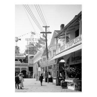 Gran carrera de obstáculos, frondosa, Coney Island Tarjeta Postal