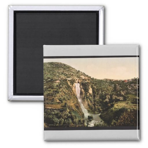 Gran cascada, Tivoli, vintage Photoch de Roma, Ita Imán De Frigorifico