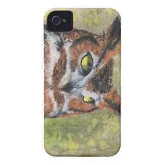 Gran caso del iPhone 4 del búho de cuernos virgin iPhone 4 Carcasas