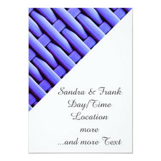 gran cesta trenzada, azul invitación 12,7 x 17,8 cm