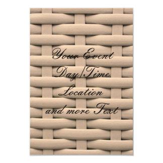 gran cesta trenzada, beige invitación 8,9 x 12,7 cm