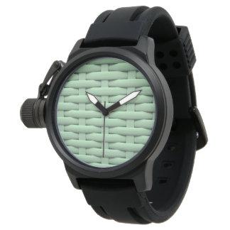 Gran cesta trenzada relojes de pulsera
