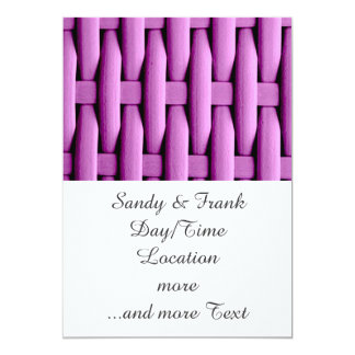 gran cesta trenzada, rosada invitación 12,7 x 17,8 cm