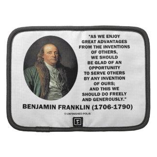 Gran cita de la invención de las ventajas de Benja