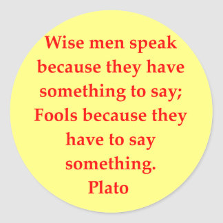 gran cita de Platón Pegatina Redonda