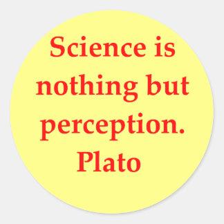 gran cita de Platón Pegatinas Redondas