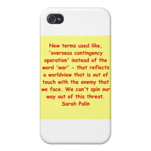 gran cita de Sarah Palin iPhone 4 Carcasa