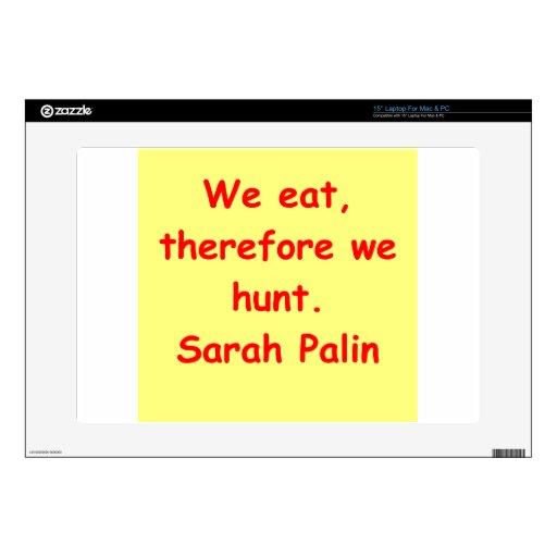gran cita de Sarah Palin Portátil Calcomanía