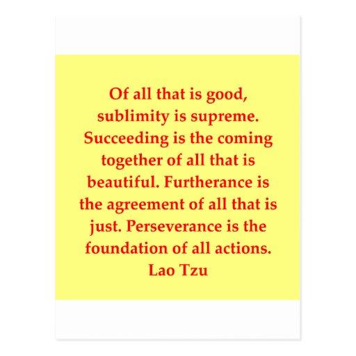 gran cita de Tzu del Lao Tarjeta Postal