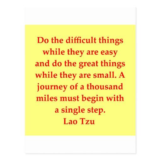 gran cita de Tzu del Lao Tarjetas Postales