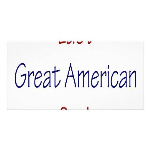Gran cocinero americano pasado tarjeta fotográfica personalizada