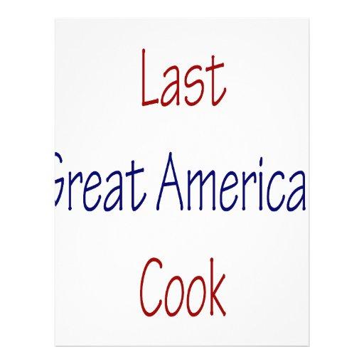 Gran cocinero americano pasado tarjetón