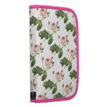 gran color de rosa col-con hojas por Redouté Planificadores