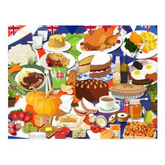 Gran comida británica postales