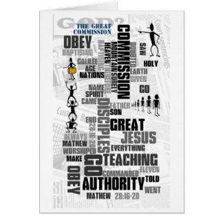 Gran Comisión Mathew 28 (v2) Tarjeta De Felicitación