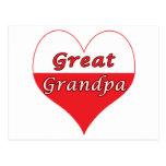 Gran corazón del polaco del abuelo postal