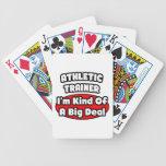 Gran cosa atlética del instructor… baraja de cartas