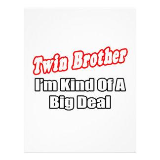 Gran cosa de Brother gemelo… Tarjeta Publicitaria
