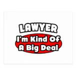 Gran cosa del abogado… tarjeta postal