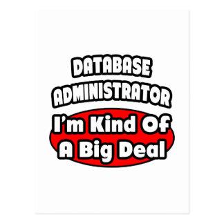 Gran cosa del administrador de base de datos… postales