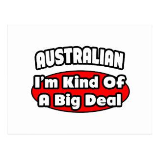 Gran cosa del australiano… postal