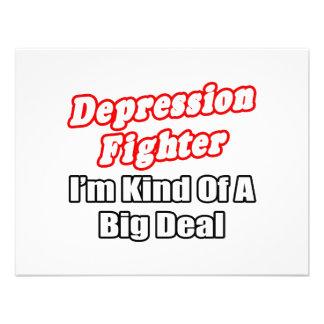 Gran cosa del combatiente de la depresión… comunicado personalizado