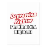 Gran cosa del combatiente de la depresión… postales