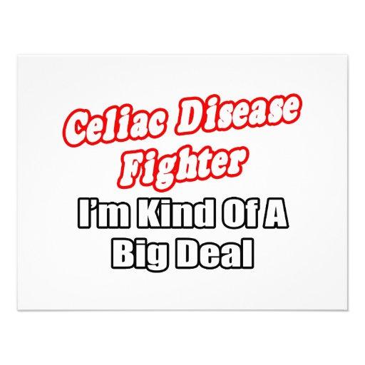 Gran cosa del combatiente de la enfermedad celiaca invitacion personal