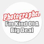 Gran cosa del fotógrafo… etiquetas redondas