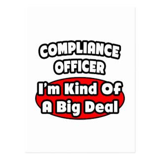 Gran cosa del oficial de la conformidad… postales