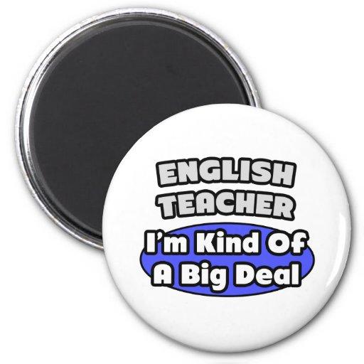 Gran cosa del profesor de inglés… imán redondo 5 cm