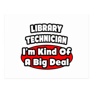 Gran cosa del técnico de la biblioteca… postal