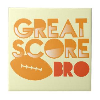 ¡Gran cuenta Bro! con fútbol Azulejo Cuadrado Pequeño