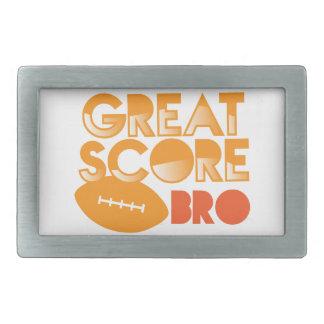¡Gran cuenta Bro! con fútbol Hebilla De Cinturon Rectangular