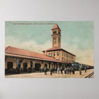 Gran depósito septentrional del ferrocarril poster