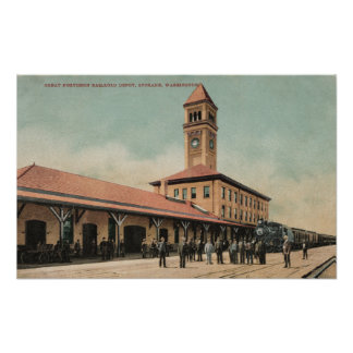 Gran depósito septentrional del ferrocarril póster