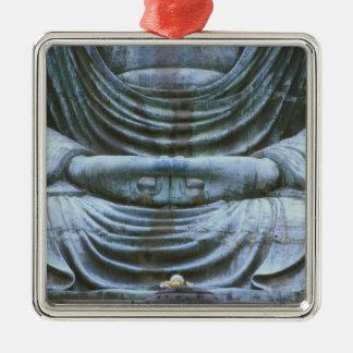 Gran detalle de Buda, templo de Kotokuji, Adorno Cuadrado Plateado