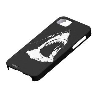 Gran diseño blanco y negro del tiburón blanco iPhone 5 cárcasas