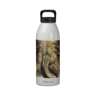 Gran dragón rojo botella de agua