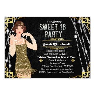 Gran dulce del art déco de Gatsby invitación de 16