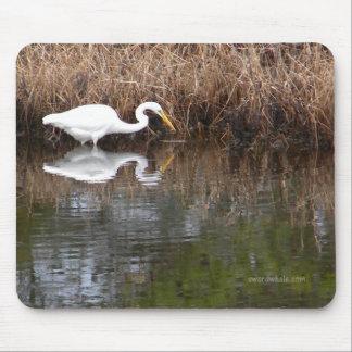 Gran Egret 1 Mousepad