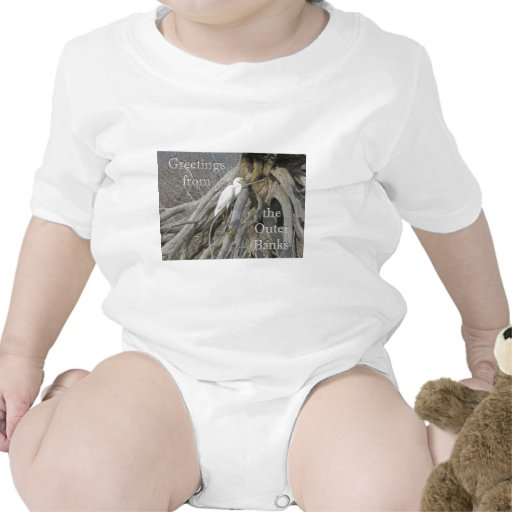 Gran Egret (Ardea alba) OBX Outer Banks Camiseta