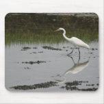Gran Egret blanco Mousepad Tapete De Raton