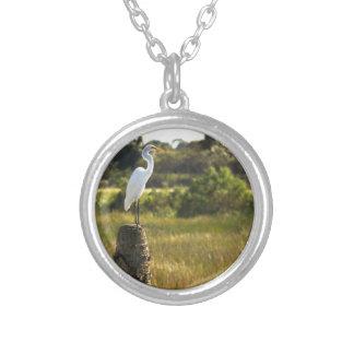 Gran Egret en los humedales de Viera Colgante Personalizado