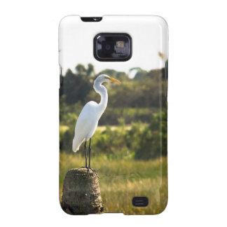 Gran Egret en los humedales de Viera Galaxy SII Carcasa