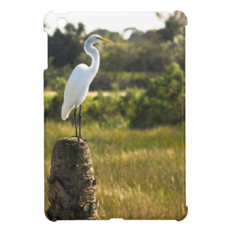 Gran Egret en los humedales de Viera iPad Mini Carcasa