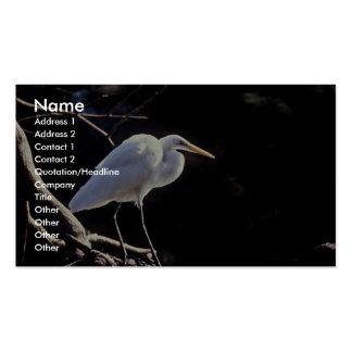 Gran Egret Plantilla De Tarjeta Personal