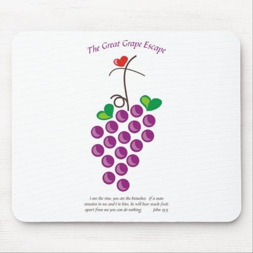 gran escape 3 de la uva alfombrillas de ratón