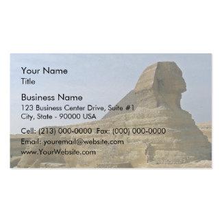 Gran esfinge con la pirámide tarjetas de visita