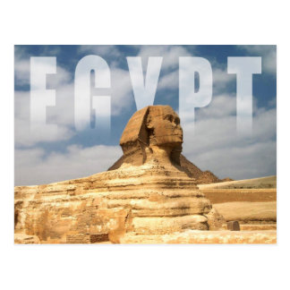 Gran esfinge de Giza en Egipto Postal